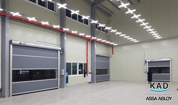 cửa cuốn công nghiệp pvc chuyên lắp kho xưởng và các loại phòng sạch tự động mở