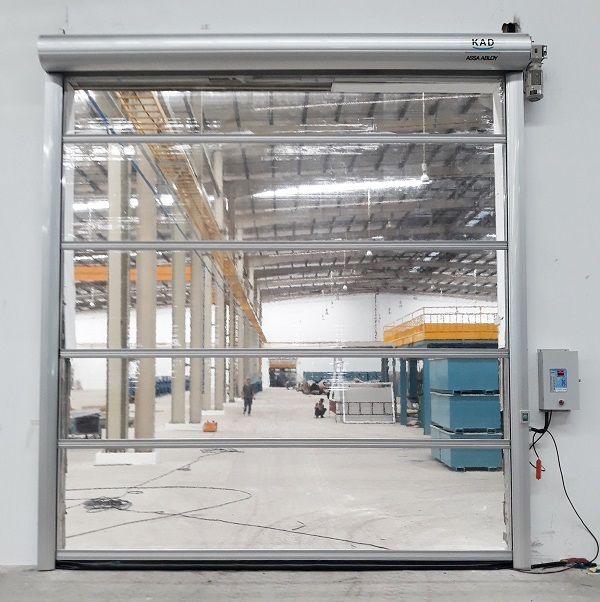 Dòng cửa màn PVC trong suốt với tốc độ đóng mở cực nhanh và êm