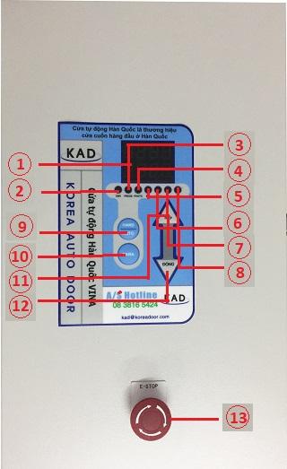 ý nghĩa các nút có trên màn hình tủ điều khiển cửa cuốn nhanh
